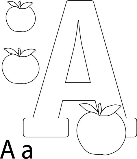 preschool coloring pages letter a letter a coloring pages preschool and kindergarten