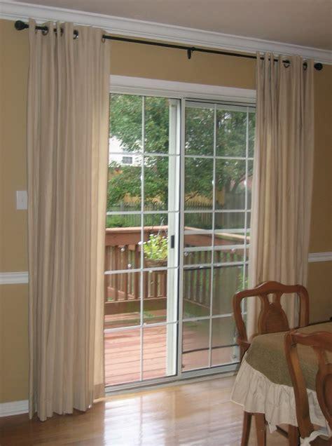 standard curtain length  sliding glass door home