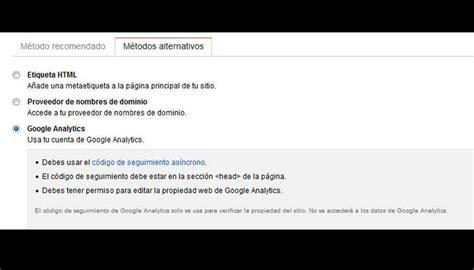 analytics console tutorial de search console para dar de alta tu web