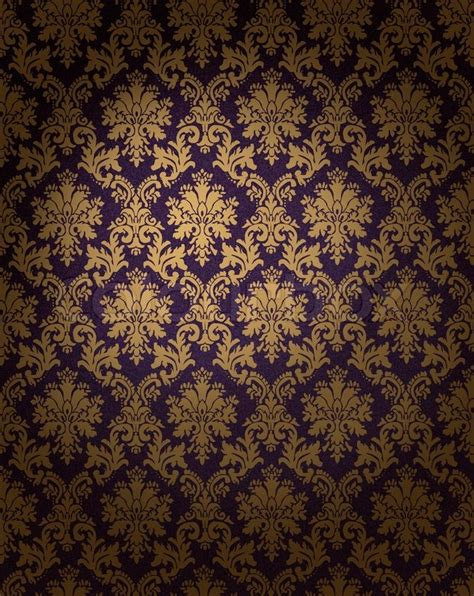 Wallpaper Dinding Luxury Classic Coklat Gold damast muster tapete beschaffenheit stockfoto colourbox