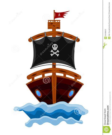 management boat cartoon pirate ship cartoon stock vector image 54180812