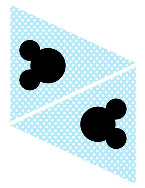 Banner Mickey Bunting Flag Mickey instant mickey mouse light blue banner flag
