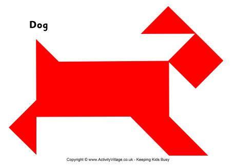 tangram pattern dog
