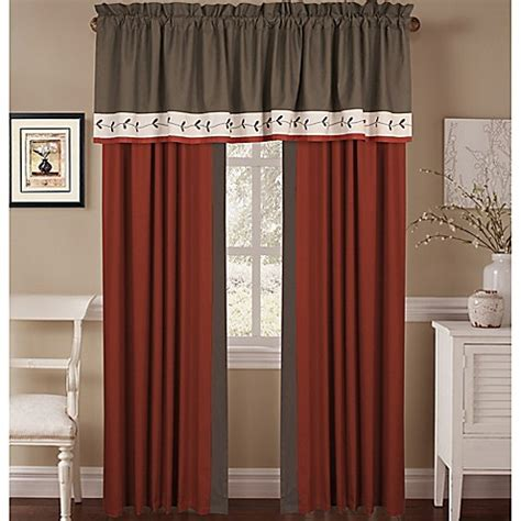 bed bath and beyond curtains and window treatments chelsey window curtain panel pair and valance bed bath