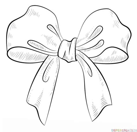 ribbon bow coloring page how to draw a bow step by step drawing tutorials