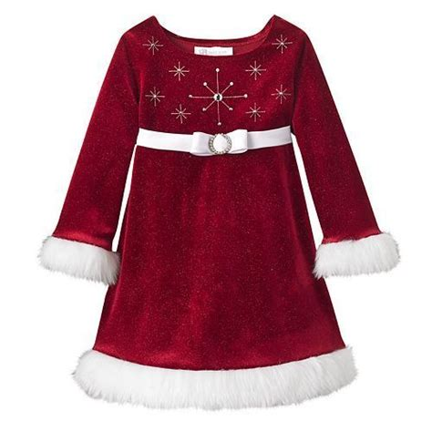 ebay xmas dresses new bonnie jean baby girl red christmas santa snowflake