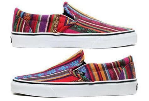 patterned vans for sale shoes printed vans aztec vans print colorful slip on