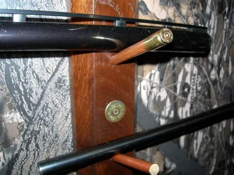 gun racki   empty shells   holders