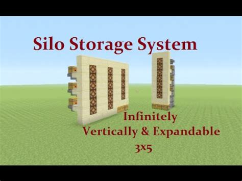 minecraft tutorial unlimited silo storage system