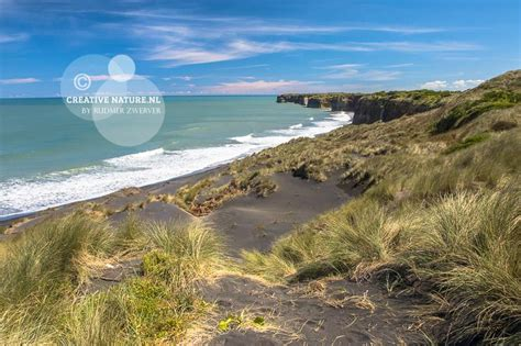 beaches near plymouth dunes and black sand near new plymouth new zealand