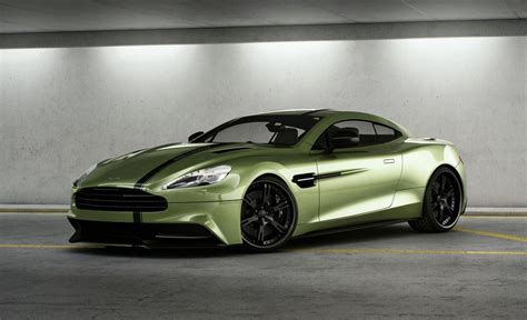 wheelsandmore aston martin vanquish is awesome and green
