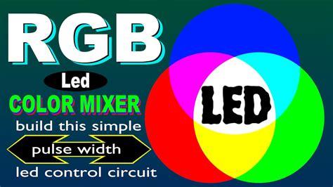 rgb color mixer rgb led color mixer pulse width modulation pwm