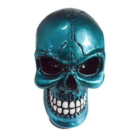 Skull Gear Knob by Car Diy Tuning Universal Car Chrome Skull Gear Stick