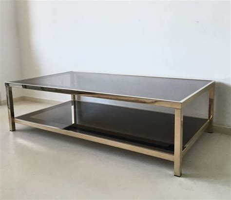 exclusive 23 carat rectangular gold plated coffee table