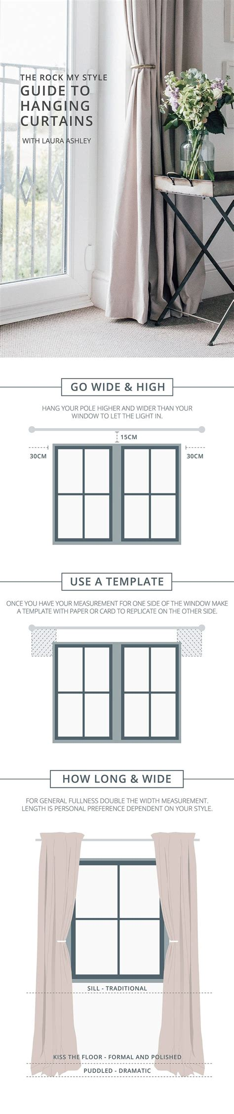 curtain hanging guide best 25 how to hang curtains ideas on pinterest hang