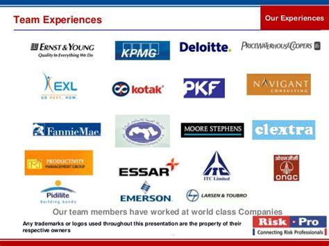 Mba Ppt On Telecommunication Industry by Riskpro Trainings Telecom Industry