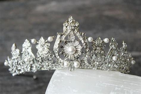 braut diadem swarovski bridal tiara art deco tiara swarovski crystal tiara