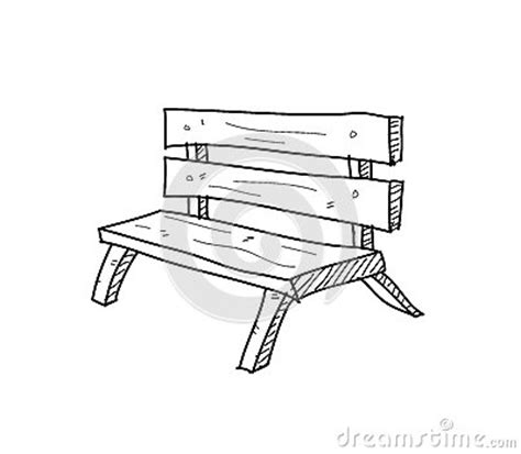 bench drawing bench doodle stock vector image 59998055