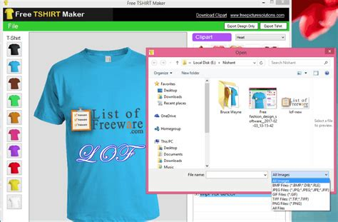 design own t shirt home software free download software t shirt creator version free picture solutions