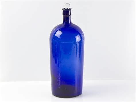 bristol blue glass large chemists bottle ebay