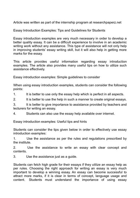 writing introduction thesis how to write the essay introduction