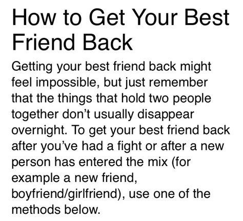 follow me back fight for me volume 2 books 6 ways to get your best friend back after a fight
