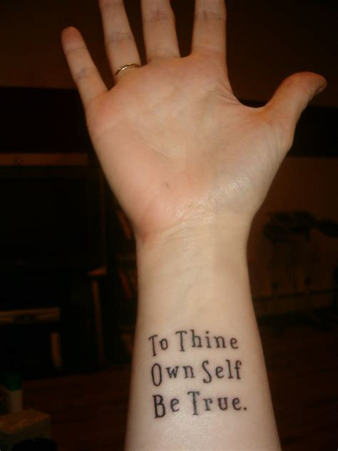 to thine own self be true tattoo that polonius contrariwise literary tattoos
