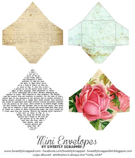 free printable mini envelope templates mini envelope printable a 1 12 scale miniature