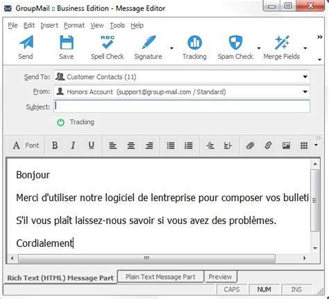 layout of an email in french how to send email with foreign language accents and characters