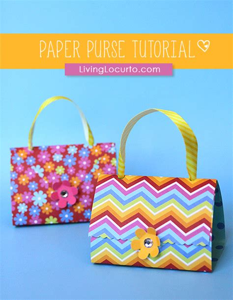 Paper Crafts Tutorial - how to make paper purse favors paper craft tutorial