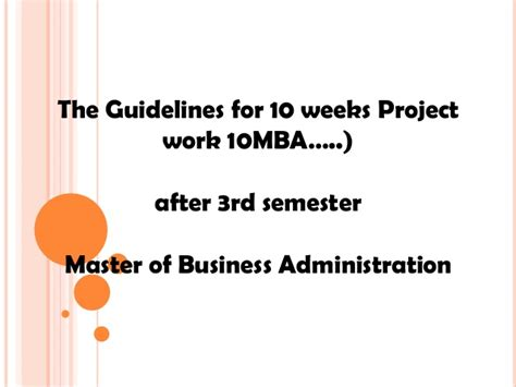 Vtu Mba Project by Mba Project Vtu