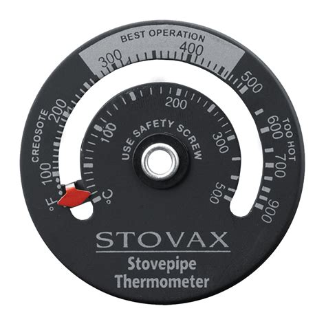 magnetic flue pipe thermometer stovax accessories - Chimney Flue Thermometer