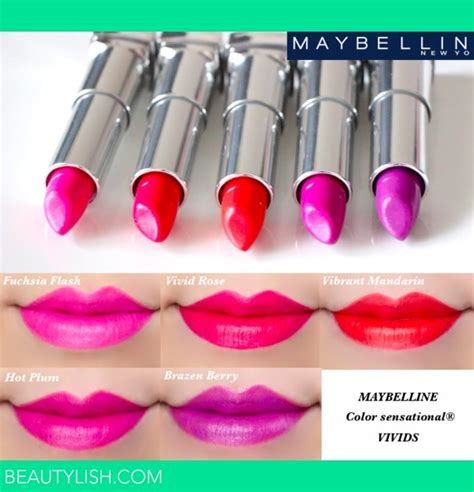 Lipstik Maybelline Vivids maybelline color sensational vivids lipstick swatches marlin u s photo beautylish