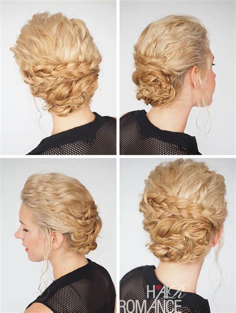 formal hairstyles curly bun see real curly hairstyle tutorials in hair romance s 30