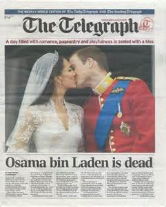 weekly telegraph royal wedding bin laden front page best