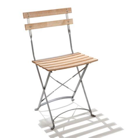 chaise pliante exterieur chaise pliante de jardin en acier et bois square doublet