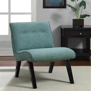 Contemporary Accent Chair Aqua Armless Tufted Back Chair Contemporary Armchairs And Accent Chairs By Overstock
