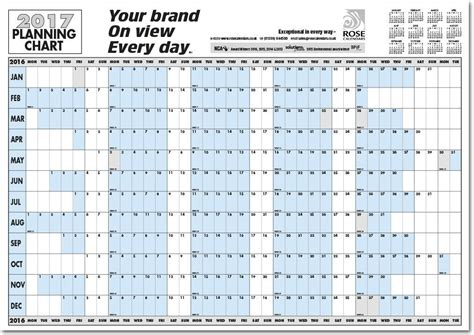printable calendars horizontal horizontal planner printable 2017 yearly horizontal wall