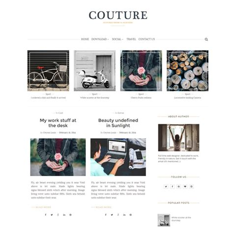 best designed blog 55 best free responsive blogger templates 2018