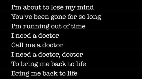 eminem i need a doctor lyric dr dre ft eminem i need a doctor lyrics youtube