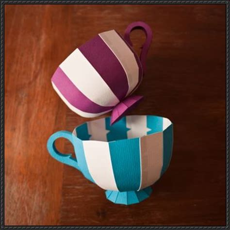 Craft Using Paper Cups - new paper craft tea cup paper craft free template
