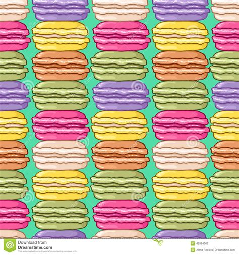 cute macaron pattern seamless cute macarons pattern stock vector image 46594506