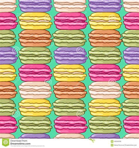 cute macaron pattern seamless cute macarons pattern stock vector image 46594506