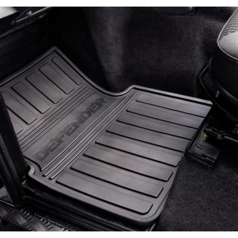 Range Rover Rubber Floor Mats by Land Rover Defender Front Rubber Footwell Mats Pair