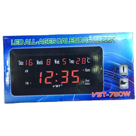 Jam Alarm Led jam weker alarm dinding led calendar temperatur vst 780w 1 jakartanotebook