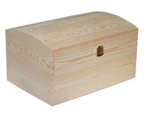 large treasure chest plain wooden box decoupage craft