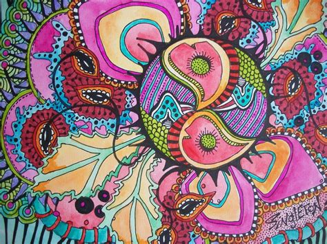In Trippy Drawings by The Psychedelic Singleton Hippie Original Hippie