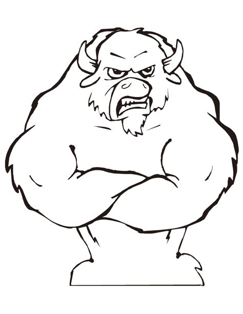 bull coloring bull with muscles coloring page h m coloring pages