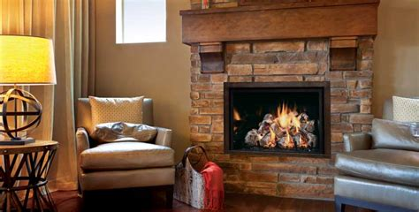 Interior Wood Wall Fullview Gas Fireplace By Mendota Hearth