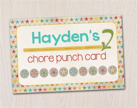 bathroom pass punch card a pocket full of lds prints chore punch cards freebie